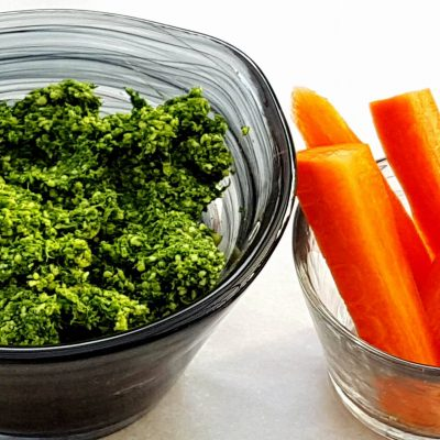 Don't waste your carrot top greens!