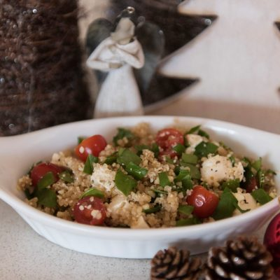 Christmas Quinoa Salad (with added bone broth)