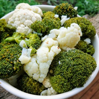 Garlic Cauliflower and Broccoli