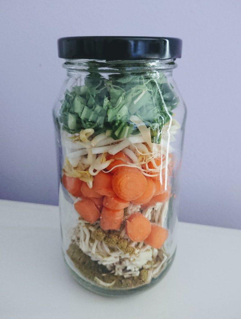 Bone Broth Noodle Jars Alternative to 2 Minute Noodles