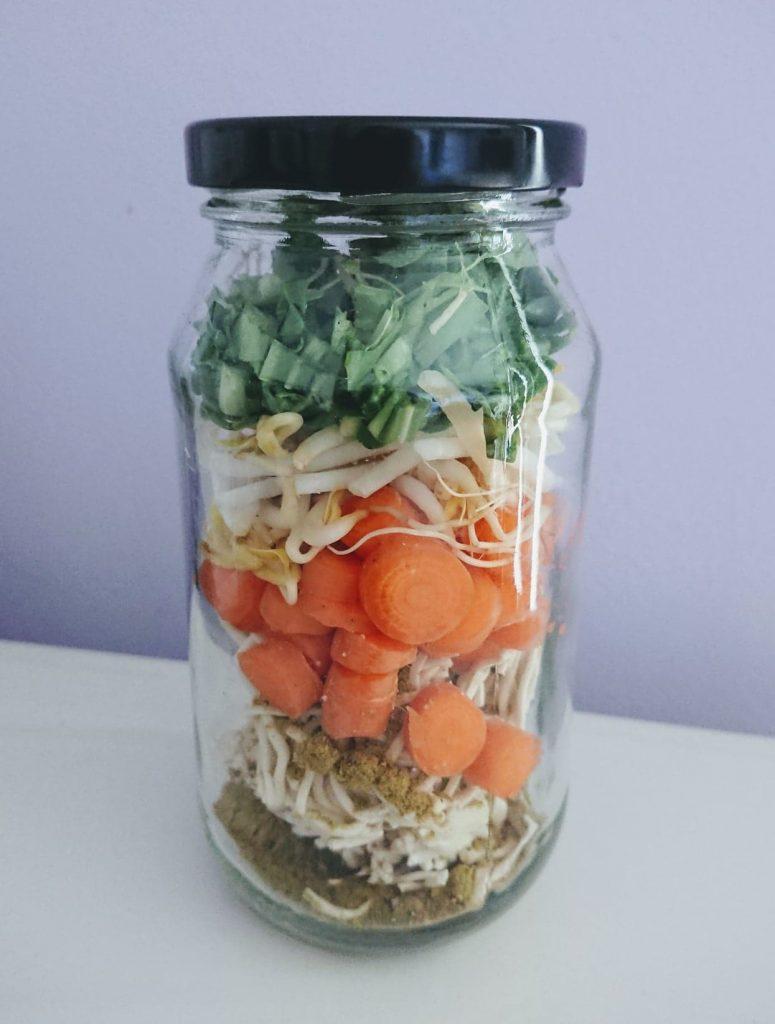 Bone Broth Noodle Jars Alternative to 2 Minute Noodles