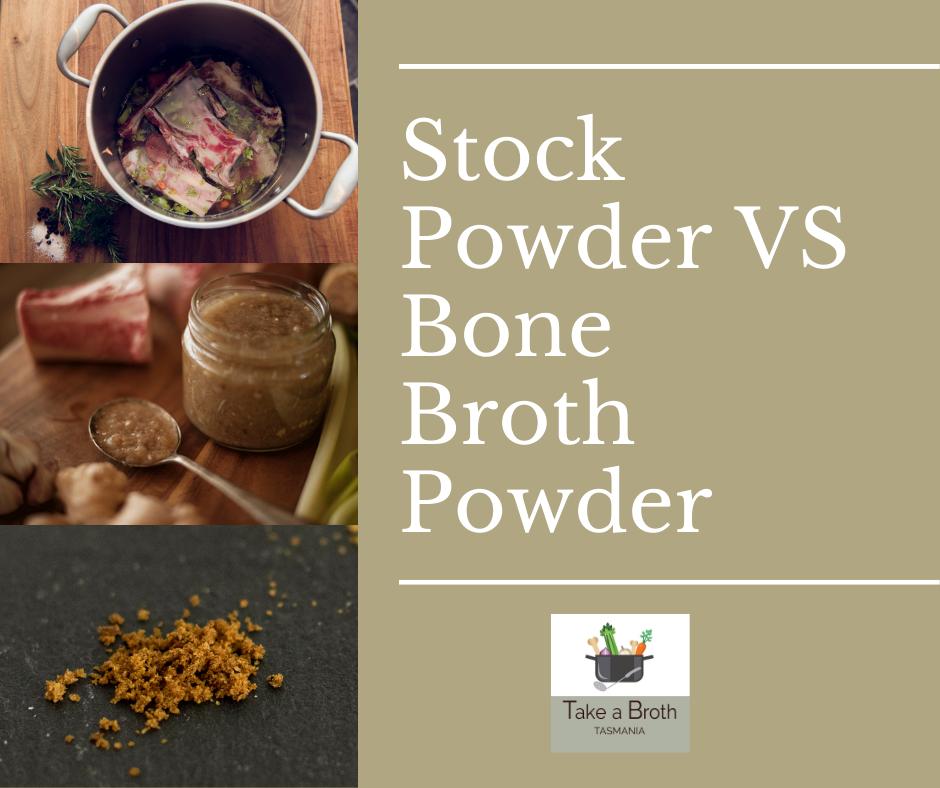 Stock Powder VS Bone Broth Powder