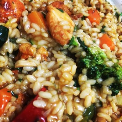 Chicken and Summer Vegetable Risotto