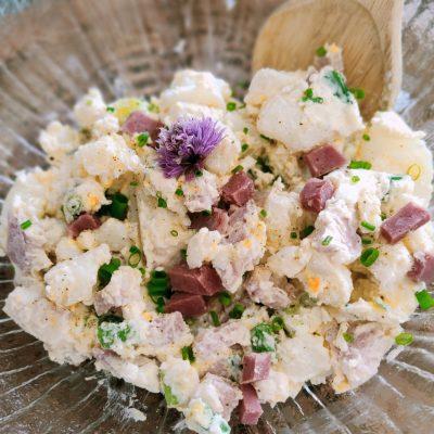 Easy Potato Salad with Ham and Egg