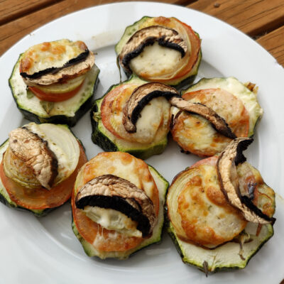 Cheesy Vegetable Stacks for the Airfryer