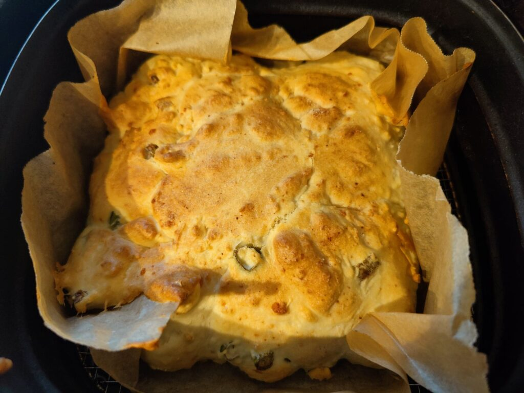 Cheese and Onion Airfryer Bread