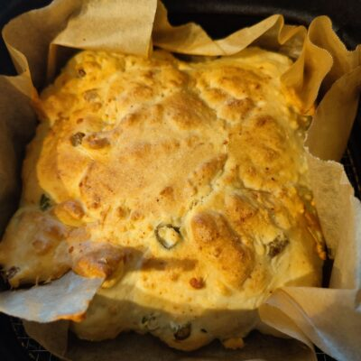 Cheese and Onion Air Fryer Bread