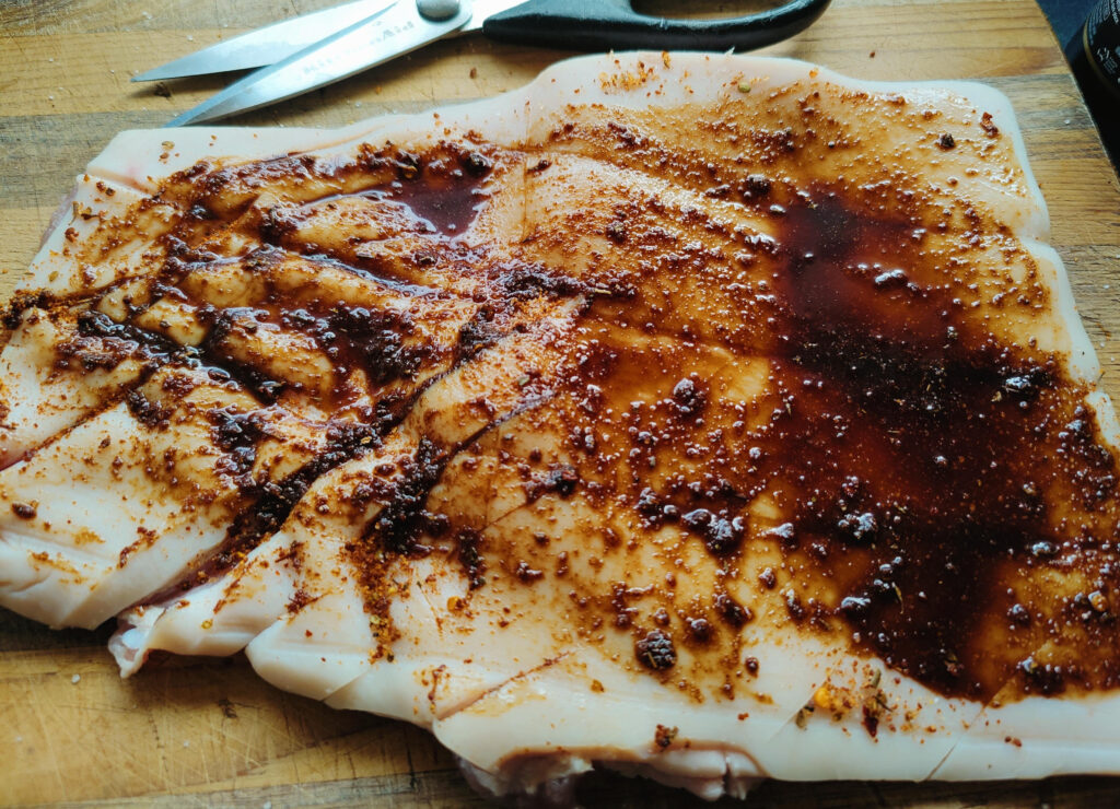 BBQ Pork Crackling Snacks in the Air Fryer
